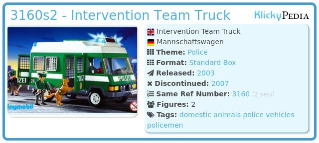 Playmobil 3160s2 - Intervention Team Truck