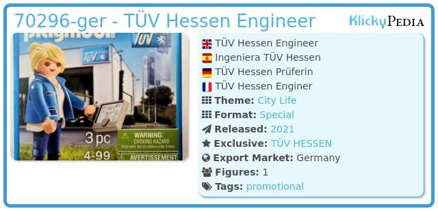 Playmobil 70296-ger - TÜV Hessen Engineer