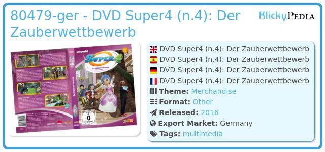 Playmobil 80479-ger - DVD Super4 (n.4): Der Zauberwettbewerb
