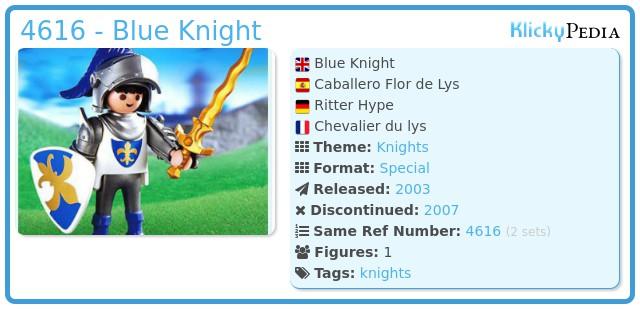 Playmobil 4616 - Blue Knight