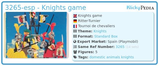 Playmobil 3265-esp - Knights game