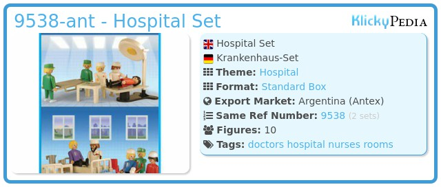 Playmobil 9538-ant - Hospital Set