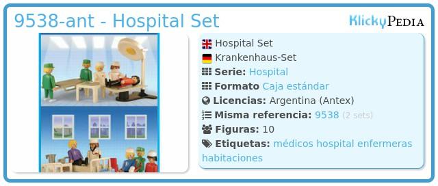 Playmobil 9538-ant - Hospital Set