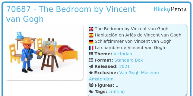 Playmobil 70687 - The Bedroom by Vincent Van Gogh
