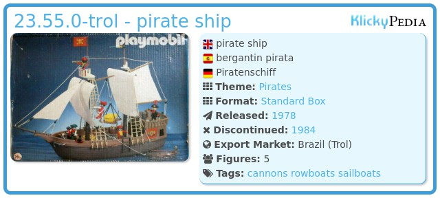 Playmobil 23.55.0-trol - pirate ship