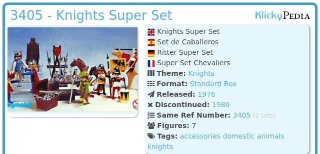 Playmobil 3405 - Knights Super Set