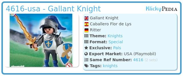 Playmobil 4616-usa - Gallant Knight