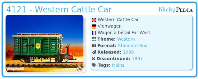 Playmobil 4121 - Western Cattle Car