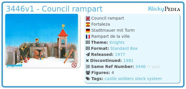 Playmobil 3446v1 - Council rampart