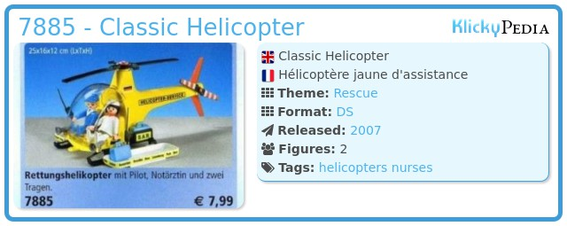 Playmobil 7885 - Classic Helicopter