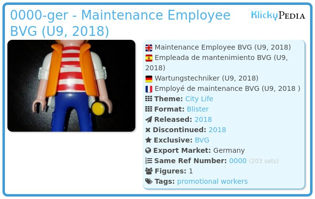 Playmobil 0000-ger - Maintenance Employee BVG (U9, 2018)