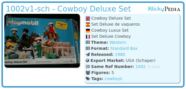 Playmobil 1002v1-sch - Cowboy Deluxe Set