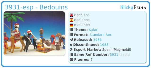 Playmobil 3931-esp - Bedouins