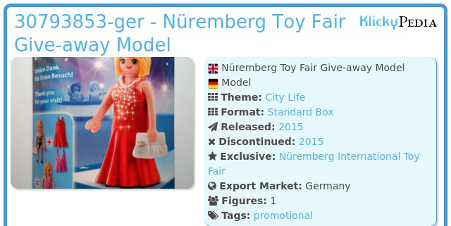 Playmobil 30793853-ger - Nüremberg Toy Fair Give-away Model