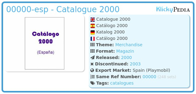 Playmobil 00000-esp - Catalogue 2000