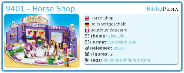 Playmobil 9401 - Horse Shop