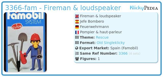 Playmobil 3366-fam - Fireman & loudspeaker