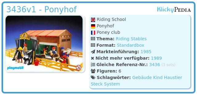 Playmobil 3436v1 - Ponyhof