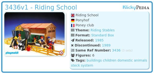 Playmobil 3436v1 - Riding School