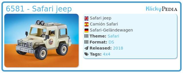 Playmobil 6581 - Safari jeep