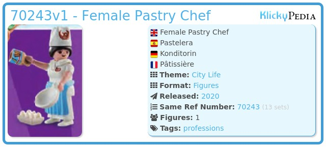 Playmobil 70243v1 - Female Pastry Chef