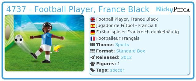 Playmobil 4737 - Football Player, France Black