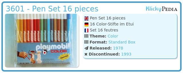 Playmobil 3601 - Pen Set 16 pieces