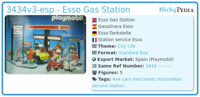 Playmobil 3434v3-esp - Esso Gas Station