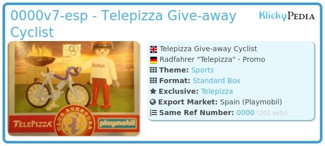 Playmobil 0000v7-esp - Telepizza Give-away Cyclist
