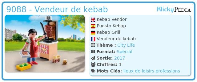 Playmobil 9088 - Vendeur de kebab