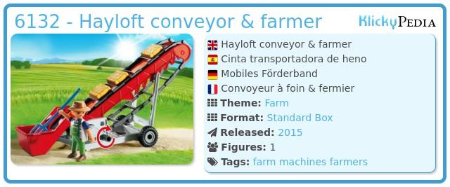 Playmobil 6132 - Hayloft conveyor & farmer