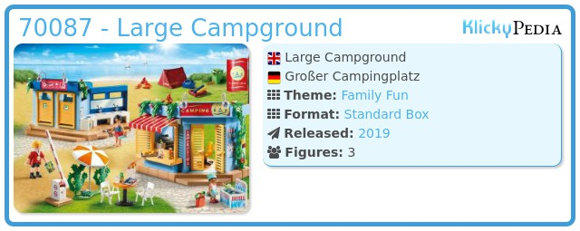 Playmobil 70087 - Großer Campingplatz