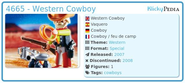 Playmobil 4665 - Western Cowboy