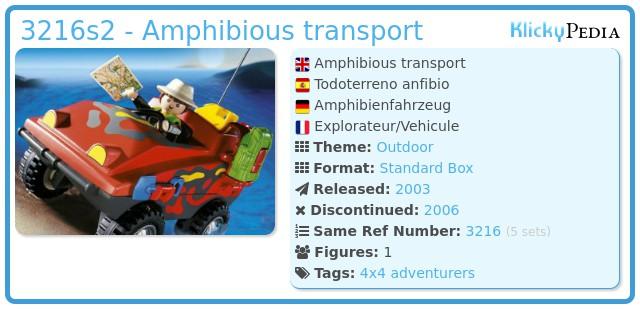 Playmobil 3216s2 - Amphibious transport