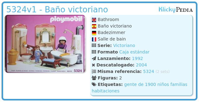 Playmobil 5324v1 - Baño victoriano