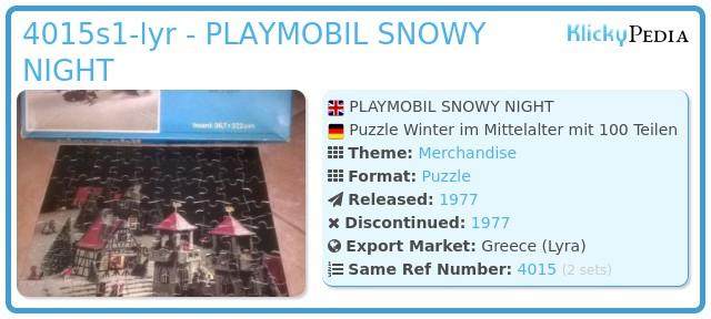 Playmobil 4015s1-lyr - PLAYMOBIL SNOWY NIGHT