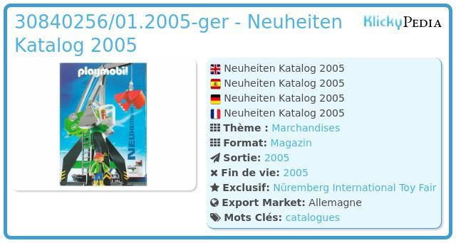 Playmobil 30840256/01.2005-ger - Neuheiten Katalog 2005