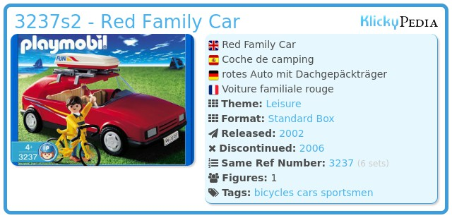 Playmobil 3237s2 - Red Family Car