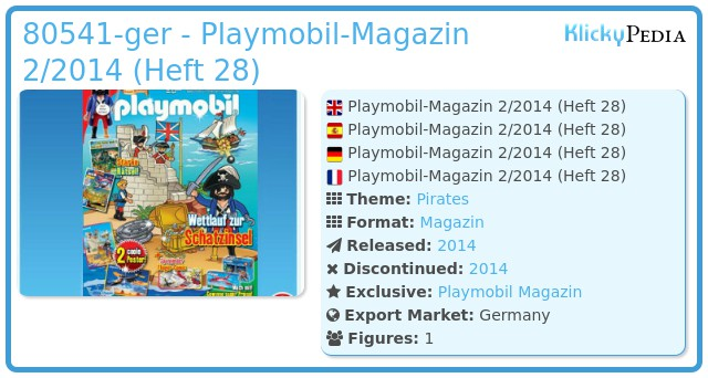 Playmobil 80541-ger - magazine nr. 27 / pirate figure