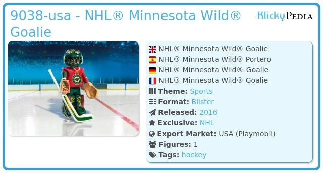 Playmobil 9038-usa - NHL® Minnesota Wild® Goalie