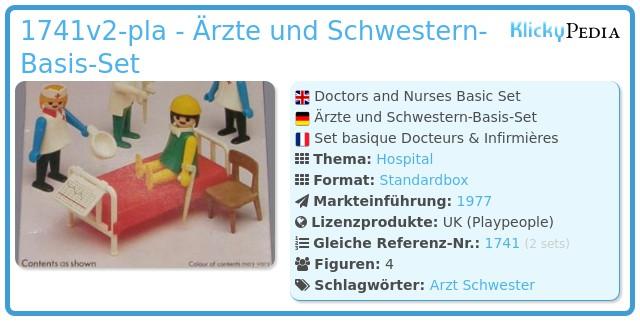 Playmobil 1741v2-pla - Ärzte und Schwestern Basis Set