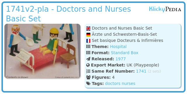Playmobil 1741v2-pla - Doctors and Nurses Basic Set