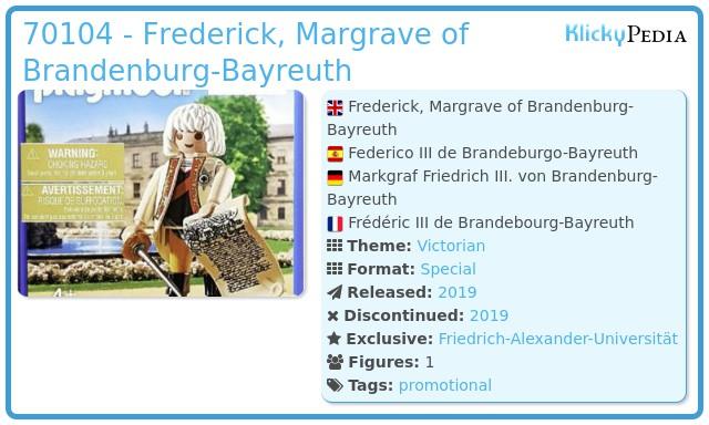 Playmobil 70104-ger - Federico III de Brandeburgo-Bayreuth