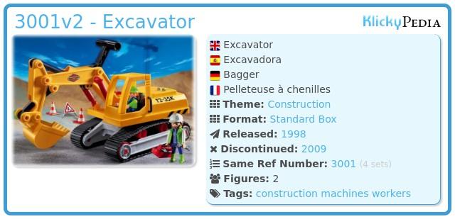 Playmobil 3001v2 - Excavator