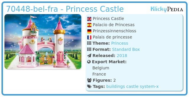 Playmobil 70448-bel-fra - Princess castle