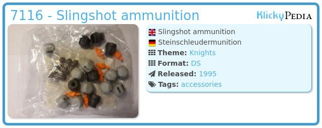 Playmobil 7116 - Slingshot ammunition
