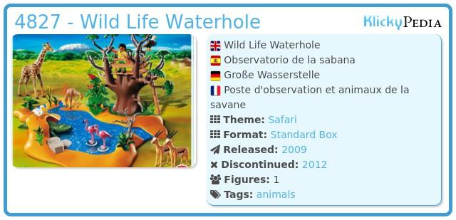 Playmobil 4827 - Wild Life Waterhole