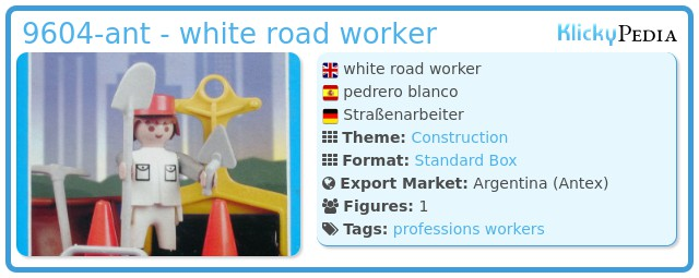 Playmobil 9604-ant - white road worker