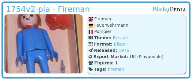 Playmobil 1754v2-pla - Fireman