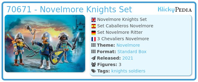 Playmobil 70671 - Novelmore Knights Set